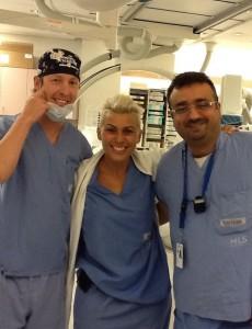 In angiografie - Dr. Dana Iancu, alaturi de colegii din Ottawa
